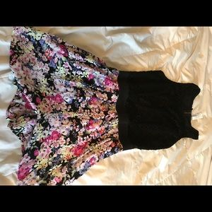 Black and Flowered Romper